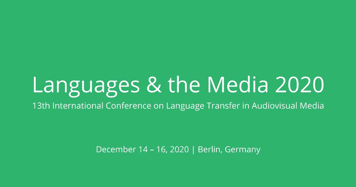 Languages & the Media 2020